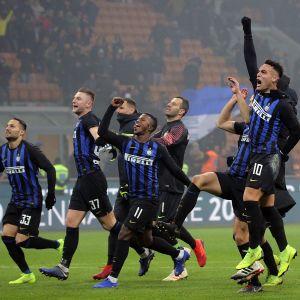 Inter juhlii voittoa.