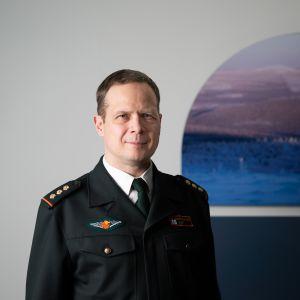 Eversti Jarkko Alén aloittaa Lapin rajavartioston komentajana 1.1.2019.