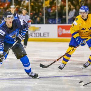 Oskari Laaksonen Ruotsi-ottelussa 26.12.2018.