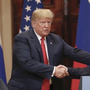 Donald Trump ja Vladimir Putin tapasivat Helsingissä 16. heinäkuuta.