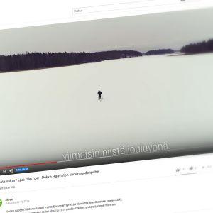Kuvakaappaus Vihreiden YouTube-videosta