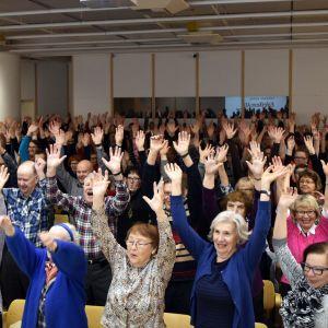 Pääkirjaston Minnansalin yhteislaulut ovat olleet sangen suosittuja.