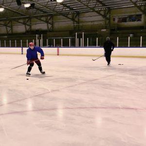 Kiinalaiset jääkiekkoilijat harjoittelevat