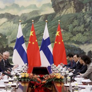 Presidentti Sauli Niinistö Kiinan vierailulla.