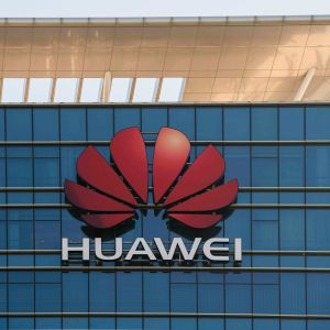 Huawei logo seinässä