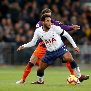 Mousa Dembele Tottenhamin paidassa.