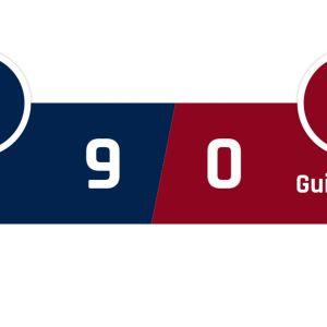 PSG - Guingamp 9-0