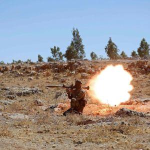 Syyrialaisia taistelijoita.