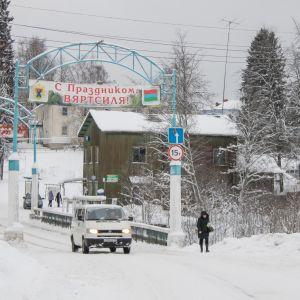 Jänisjoen ylittävä silta Värtsilän kylälle tullessa.
