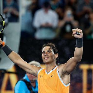Rafael Nadal  Australian avoimissa tammikuussa 2019.