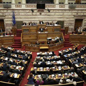 Kreikan parlamentti kokoontui 24. tammikuuta.