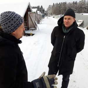 Tarhaaja Rainer Sjöholm ja kaupunginjohtaja Mats Brandt