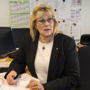 Kainuun sote-kuntayhtymän johtaja Maire Ahopelto.