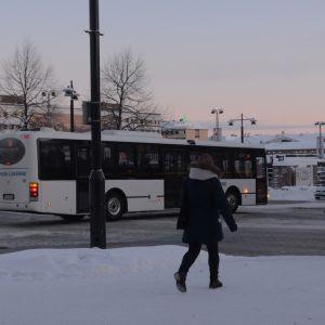 Kuopion tori talvella.