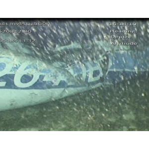 Air Accident Investigation Branch:n julkaisemaa kuvaa Englannin kanaalista löytyneestä turmakoneen hylystä.