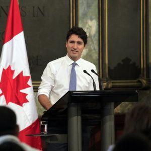 Kanadan pääministeri Justin Trudeau oli puhumassa Havannan yliopistossa marraskuussa 2016.