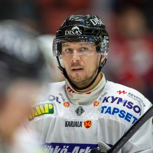 Jussi Jokinen ottelussa HIFKiä vastaan Helsingissä 8.2.2019.