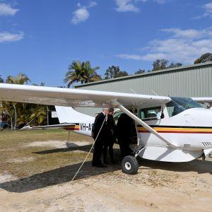 Cessna 206 -tyypin pienkone Australiassa.