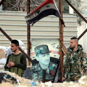 Syyrian hallituksen tarkastuspiste.