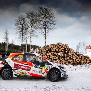 Marcus Grönholm Ruotsin rallissa 2019.