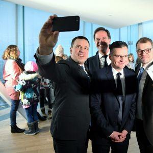 Juri Ratas, Mark Rutte, Marjan Sarec ja Juha Sipilä.