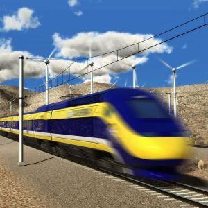 Kalifornian pikajuna kulkisi yli 350 km/h nopeudella.