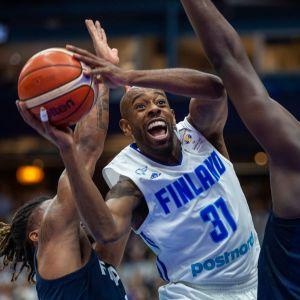 Jamar Wilson oli vireessä Ranska-ottelussa 21.2.2019.