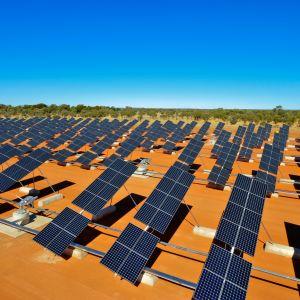 Australian Pohjoisterritorio tunnetaan aurinkovoimatutkimuksestaan. Kuvassa Alice Springsin aurinkovoimala.
