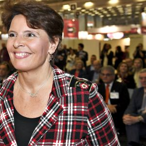 Liikenneministeri Anne Berner Matka 2019 -matkamessujen avajaistilaisuudessa Helsingissä 17. tammikuuta 2019.
