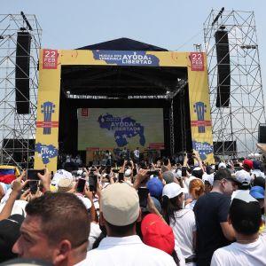 Venezuela Aid Live -konsertti Kolumbian rajalla