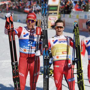 Aleksandr Bolshunov, ,Martin Johnsrud Sundby, Sjur Röthe