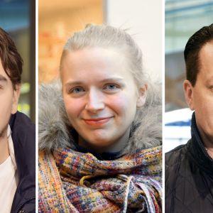 Otto Lähdesmäki, Ringa Prauda-Rydgren, Mikko Leino