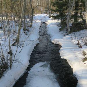Joki talvella.