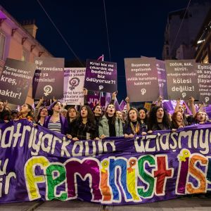 Naistenpäivän marssi Istanbulissa 8.3.2019.