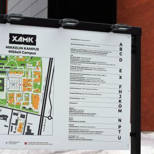 Kaakkois-Suomen ammattikorkeakoulun Mikkelin kampuksen kartta