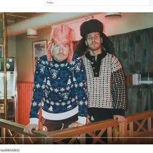 Kuvakaappaus JVG:n musiikkivideosta Ikuinen vappu.
