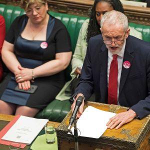 Työväenpuolueen johtaja Jeremy Corbyn.