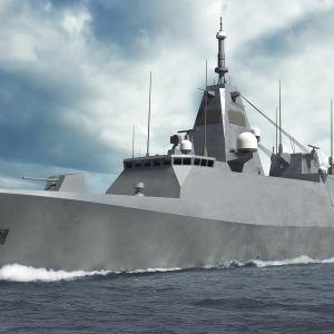 Laivue 2020 -hankkeen alus Puolustusministeriön havainnekuvassa.