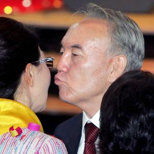 Nursultan Nazarbayev ja Dariga Nazarbajeva.