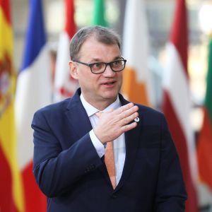 Juha Sipilä brexit-huippukokouksessa Brysselissä.