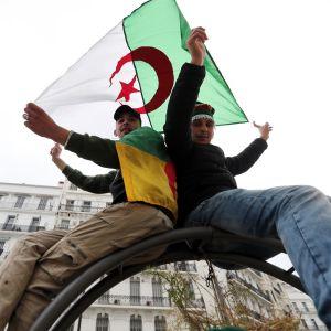 Mielensoittajia Algerian pääkaupungissa Alger'ssa.
