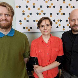 Kim Simonsson, Alma Heikkilä ja Aaron Heino.