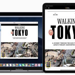 National Geographicin sivu Applen uudessa News+ -palvelussa MacBookin, iPadin ja iPhonen näytöillä.