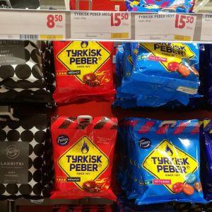 Turkinpippureita tukholmalaisessa kaupassa