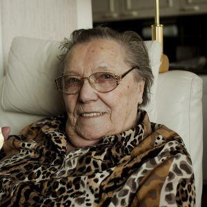 Olympiavoittaja Lydia Wideman-Lehtonen kotonaan Tampereella 30. huhtikuuta 2010.