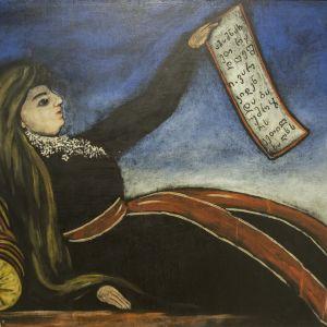 Niko Pirosmani: Leaning Against Woman Mutake, Mikkelin museo