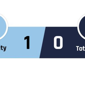 Manchester City - Tottenham 1-0