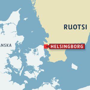 Helsingborg kartalla.
