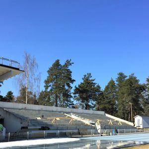 Kimpisen yleisurheilustadion Lappeenrannassa.