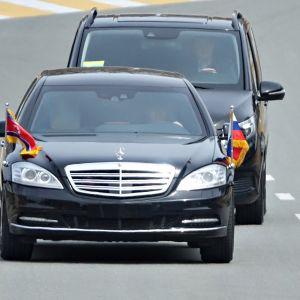 Kim Jong-unin limusiini Vladivostokissa 25. huhtikuuta.